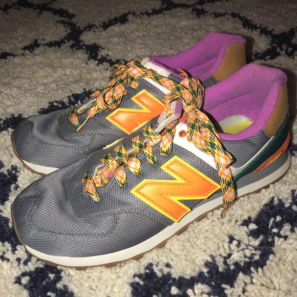 Poshmark 574 Gray Shoes Balance Sneakers Purple Orange New 0vqfzwyAy